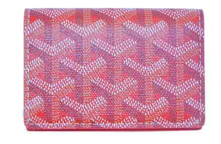 【キャッシュレス5%還元対象】≪新品≫ 正規品 GOYARD ゴヤール 名刺・カードケース マルゼルブ 赤 箱・リボンのラッピング