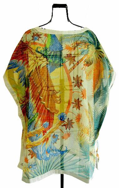 ≪送料無料≫ HERMES エルメス コットンシャツ ブラウス チュニック プリント 34サイズ 心斎橋ミュゼ