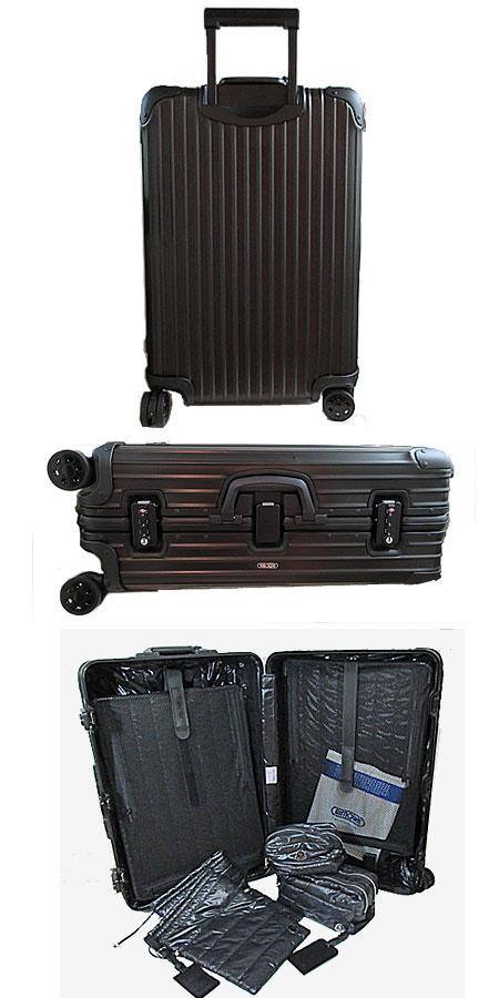 MONCLER x rimowa 2015 MONCLER collaboration with limited suitcase Topas Stealth Black Black 64L