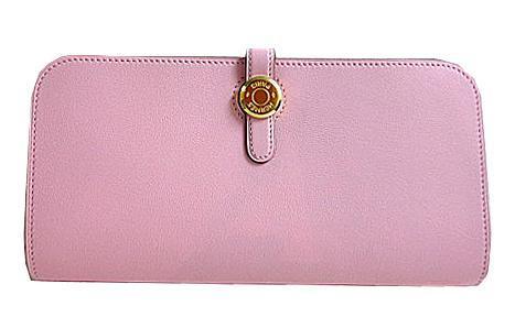 【キャッシュレス5%還元対象】《新品》 エルメス ドゴンロング スイフト ローズサクラ ゴールド金具 T刻印 Wallet Dogon Long Rose Sakura Swift Gold Backle