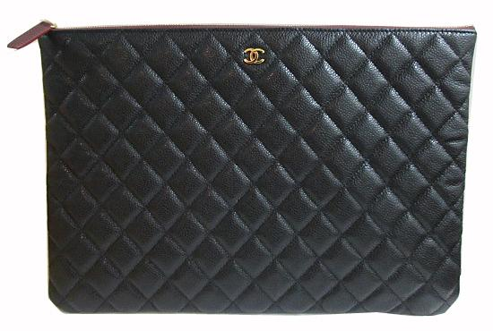 a01be310541d46 «» CHANEL Chanel 2015 fall winter matelasse caviar skin pouch  clutch bag leather ...