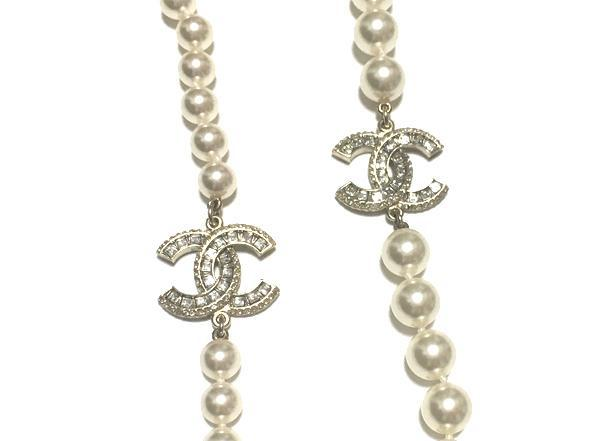 564acec4c1f39 «» CHANEL Chanel 2016 spring summer CC mark Pearl Necklace with rainstorm  gold A86493 box and Ribbon wrapping