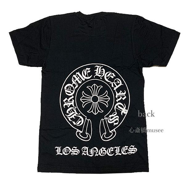 【キャッシュレス5%還元対象】≪新品≫正規品 クロムハーツ メンズ Tシャツ ブラック 黒 Los Angeles限定 ホースシュー Sサイズ Chrome hearts 日本未入荷 ロサンゼルス