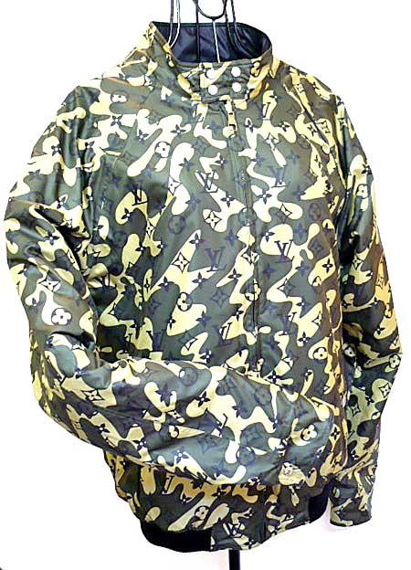 路易威登08/09秋天冬天限定monoguramofurajuribashiburujippujakettoburuzon伪装色×黑村上隆48心斋桥myuze