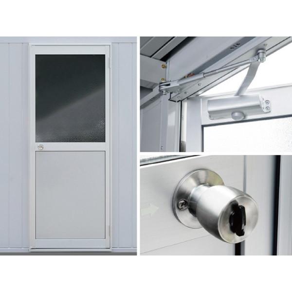 DAYTONA 品番:98993 JAN:4909449456903 98993 デイトナ ベーシックシリーズ 無料 年中無休 モーターサイクルガレージ カマチドアセット単体 型板ガラス仕様