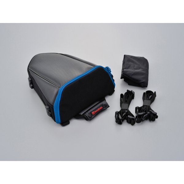 DAYTONA デイトナ:95736 デイトナ HenlyBeginsシートバッグ 品質保証 開催中 DH-708 カーボン 95736 ブルー 縦約285×横約250×高さ約110 mm