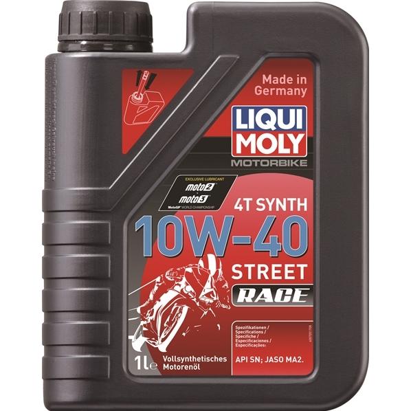 エンジンオイル 10W-40 ストリート レース用 バイク専用 LIQUIMOLY リキモリ オーバーのアイテム取扱☆ Motorbike 安値 1L Race 20753 Street 4T