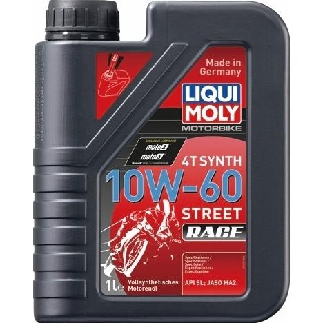 エンジンオイル 10W-60 ストリート レース用 スーパーセール期間限定 バイク専用 爆買い新作 LIQUIMOLY リキモリ 20853 Synth Motorbike Race Street 4T 1L