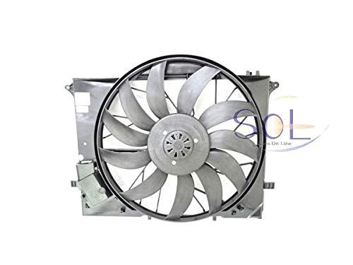 ベンツ W215 W220 ラジエーターブロアファン 650W CL500 CL55 S320 S350 S430 S500 S55 2205000193