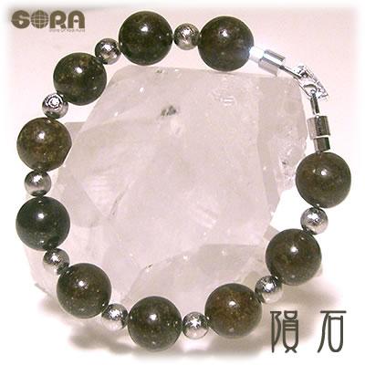 AAAAAサハラ隕石×AAAAAギベオン隕石 ブレスレット パワーストーン 天然石 ◆