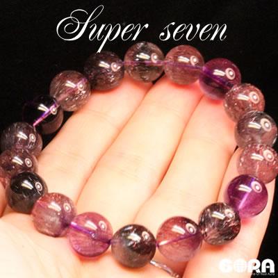 【限定1点モノ】SSSAスーパーセブン(レピドクロサイト混合) 11.5mm 一連ブレス  パワーストーン 天然石