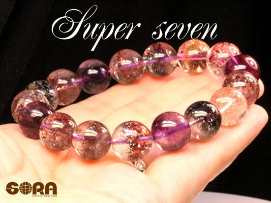 【限定1点モノ】SSAスーパーセブン(レピドクロサイト混合) 12mm 一連ブレス  パワーストーン 天然石 ◆