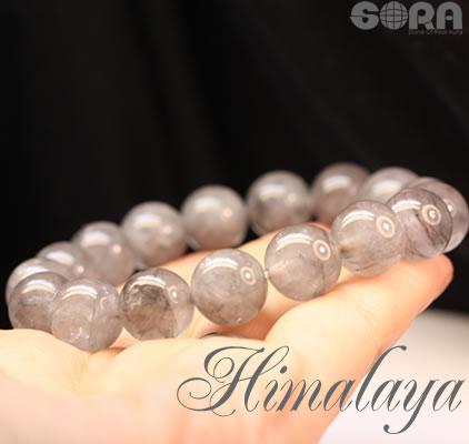 AAAAヒマラヤアッシュ水晶 ガネーシュヒマール産 12mm 一連ブレスレット パワーストーン 天然石 ◆