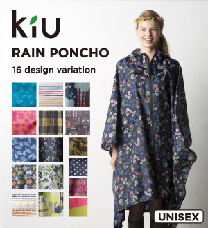kiu雨披雷恩雨披Poncho2 W.P.C. ぱ雨具一下子喜爱的雨衣wpc poncho漂亮女子深蓝浅驼色