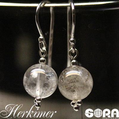 ピアスorイヤリング 開運祈願 AAAAニューヨーク産 ハーキマーダイヤモンド 7mm メーカー公式 授与 天然石 パワーストーン 水晶 ※ダイヤモンドではありません