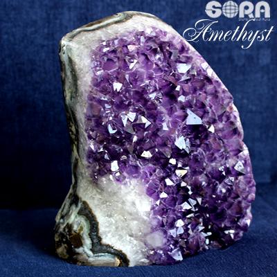 【限定1点モノ】愛と癒し祈願のお守りに アメジスト(ウルグアイ産) 原石 約2700g パワーストーン 天然石