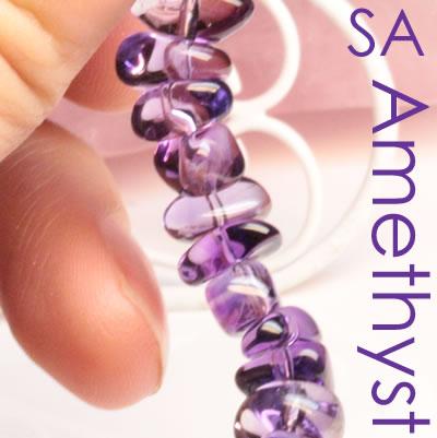 SAアメジスト (ランダムタンブル) 一連ブレスレット ブレスレット 天然石 パワーストーン ◆
