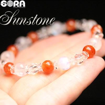 パワーストーン ブレスレット SAロイヤルブルームーンストーン SAサンストーン AAAAA水晶 天然石