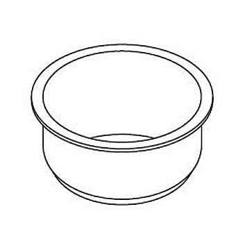 東芝 炊飯器内釜 1.0L(5.5合)用 鍛造ダイヤモンド銀釜 7mm 320WW073