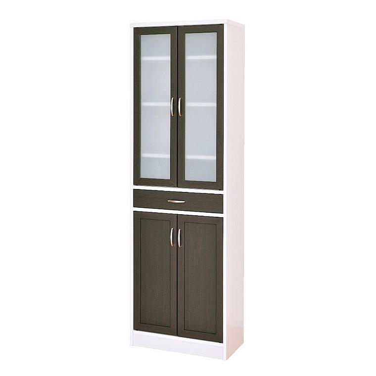 《ホワイトとブラウンのコントラストがスタイリッシュ》CT食器棚18060 CTS180-60G