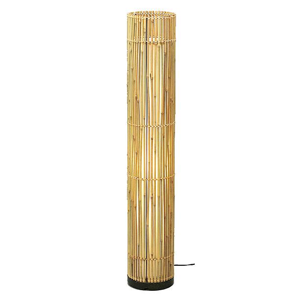 《竹素材の魅力を活かした》TOME和風フロアライト竹編60W1灯WDLT0-76Z