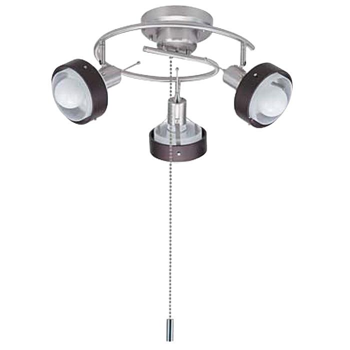 《メタリックな質感が特徴のシンプルモダン》TOMEシーリングスポットライト15W電球形蛍光灯3灯PD09003-G2