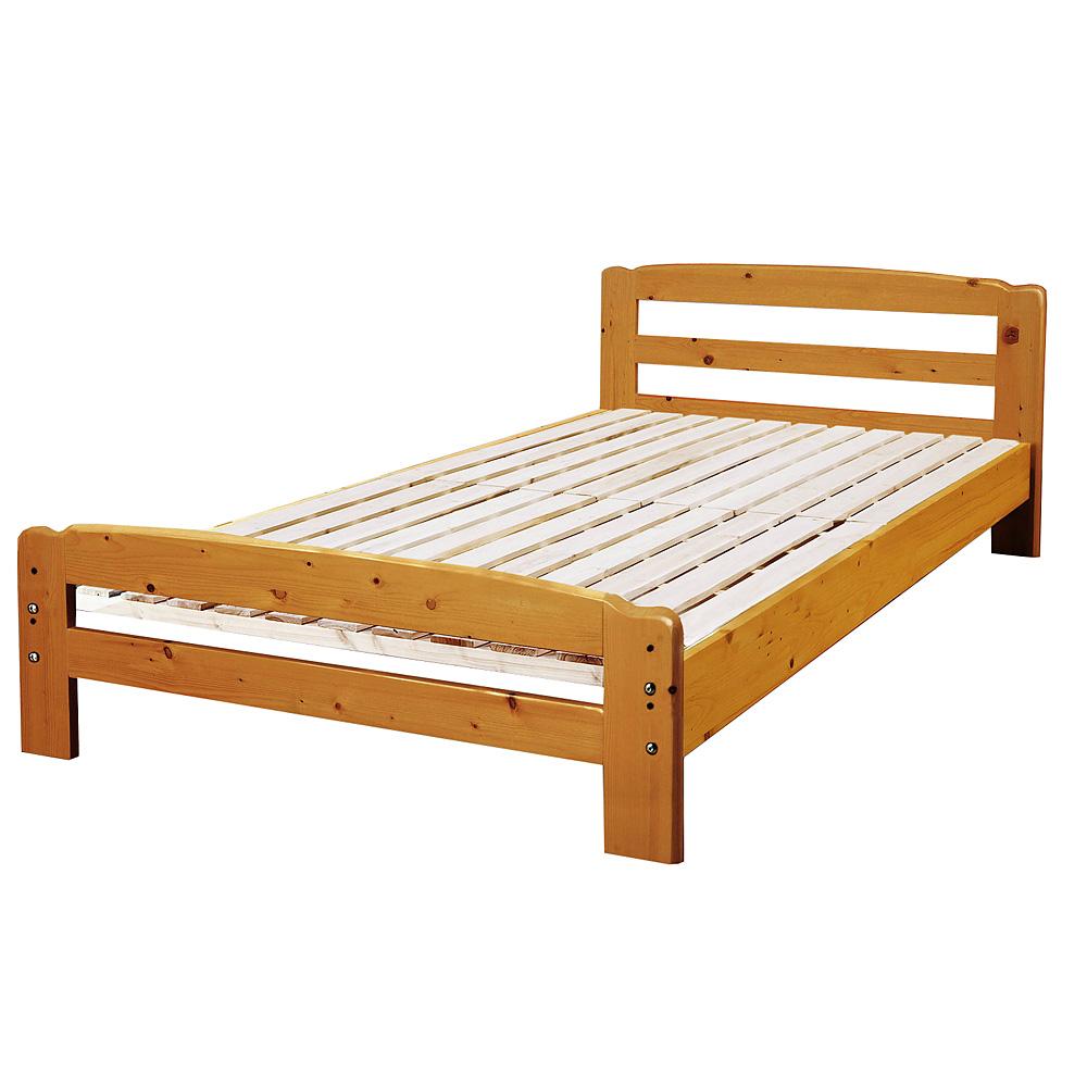 《マットレスが蒸れない。1年中爽やかな寝心地を味わえます。》サン・ハーベストパインすのこベッドZL-20(LBR)