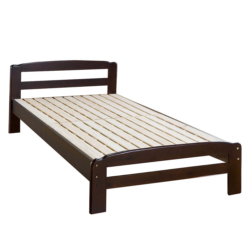 《マットレスが蒸れない。1年中爽やかな寝心地を味わえます。》サン・ハーベストパインすのこベッドZL-20(DBR)