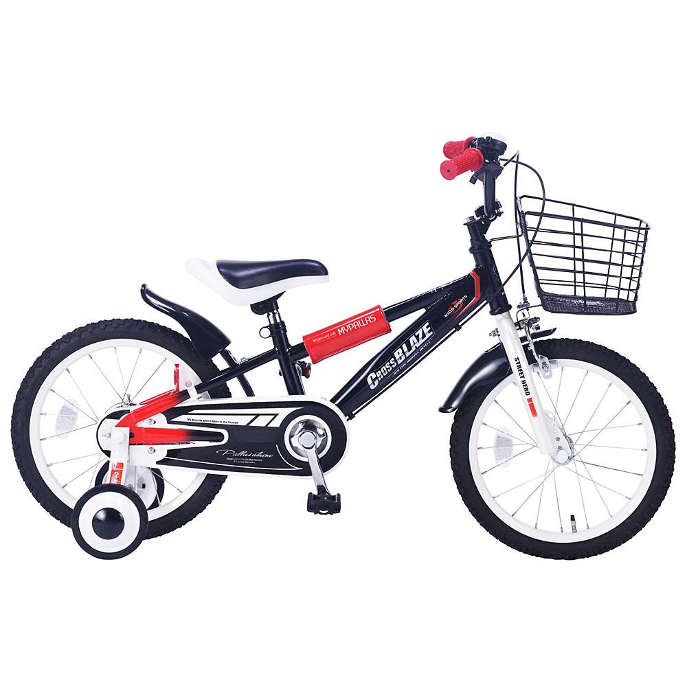 《補助輪付きで安心!人気者になれる楽しいKIDSバイク!》Mypallas子ども用自転車 16インチ MD-10-BK(ブラック)
