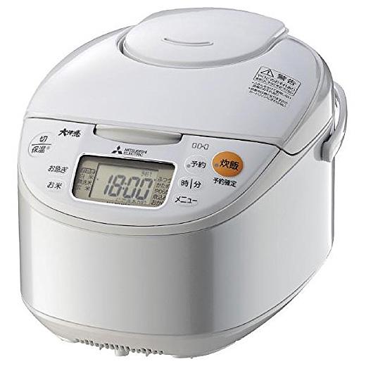 《うまさカートリッジでごはんにうまみを還元》MITSUBISHI IHジャー炊飯器NJ-NH106(W)炭炊釜1.0~5.5合炊き