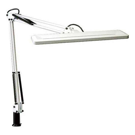 《LED光源を採用。白熱灯80W相当 調光機能付》山田照明 ZライトLEDデスクライトZ-Light Z-1000(W)