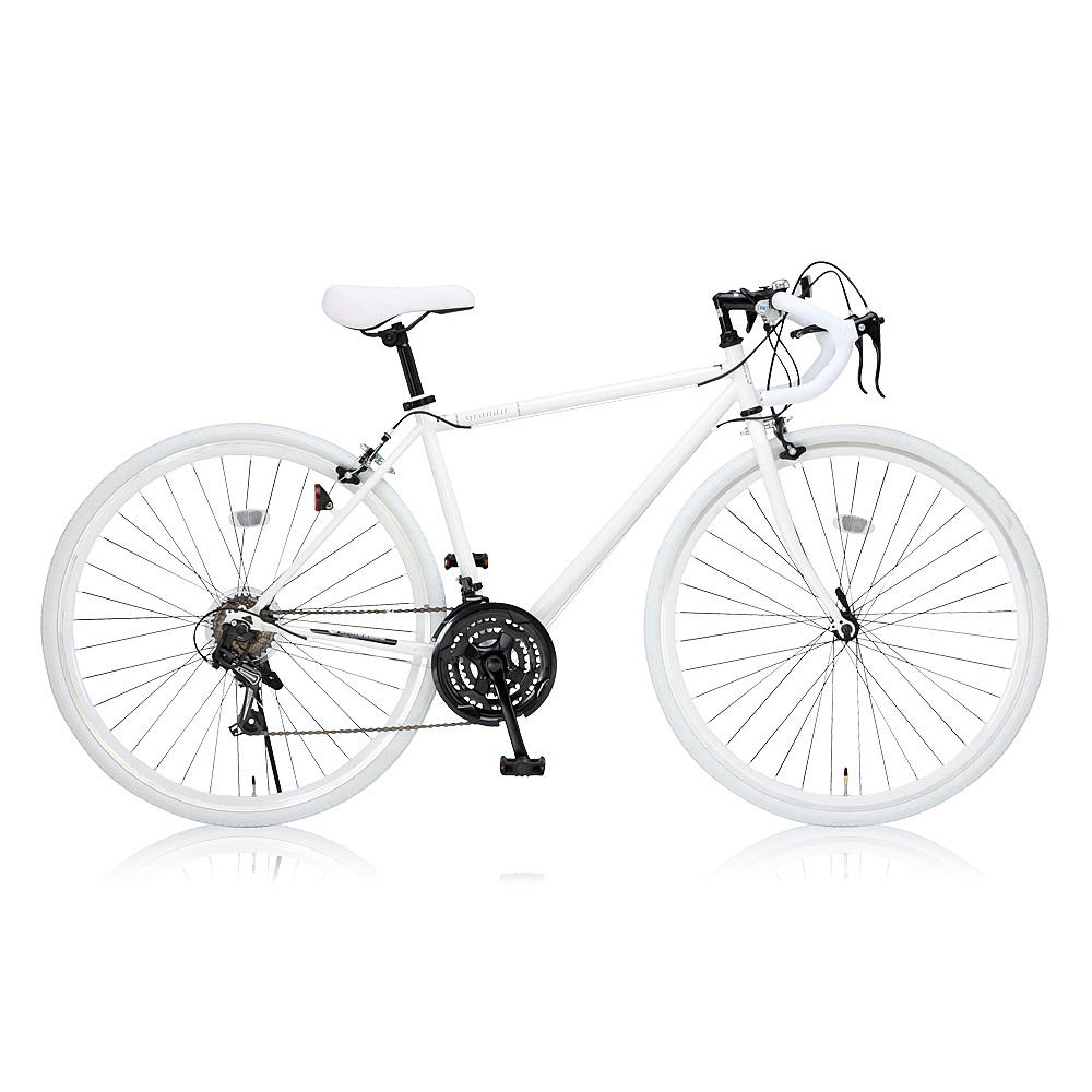 《女性でも乗りやすいフレームサイズ470mm》Grandir700x28CロードバイクSensitiveホワイト(19251)フレームサイズ470mm