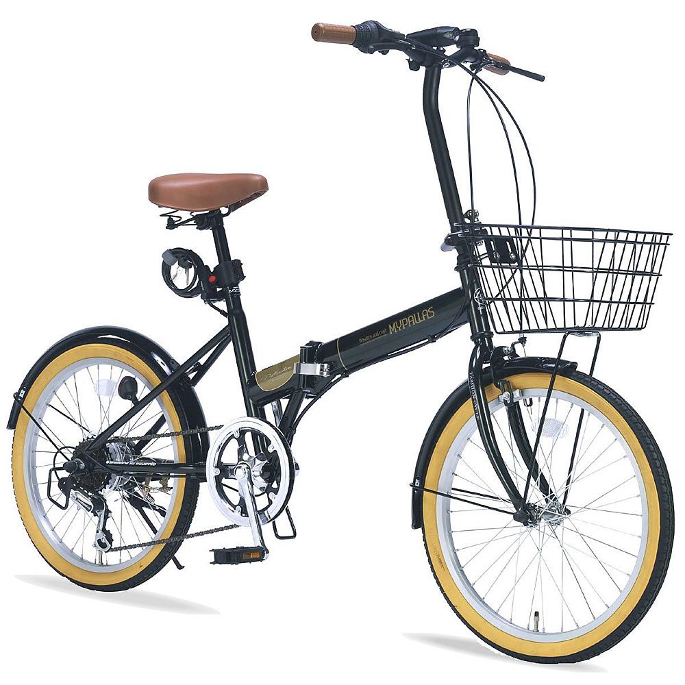 《バスケット・ライト・カギ付の充実装備》My Pallas 20インチ 6段変速折りたたみ自転車M-252(GR)