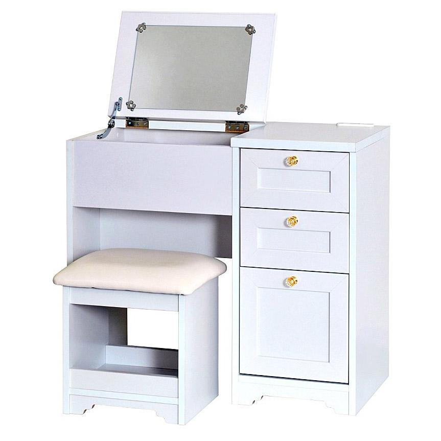 《2種類の取っ手が選べるドレッサー。引出し付きで小物収納もOK》CERISE デスクドレッサーAN70-80D(W800 ×H700)スツール付