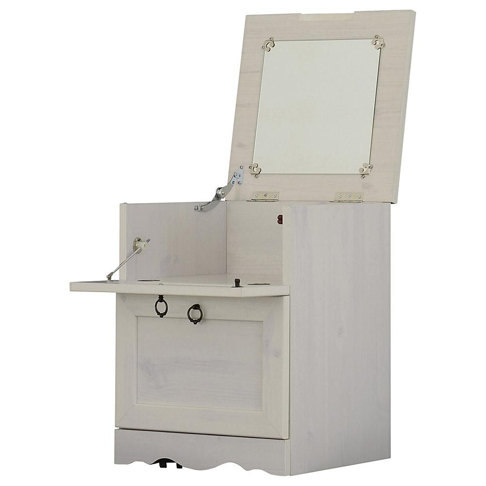 《サイドテーブルやナイトテーブルとしても使えるドレッサー》CERISE ビストロコスメボックス5040(W400 ×H544)WHホワイト
