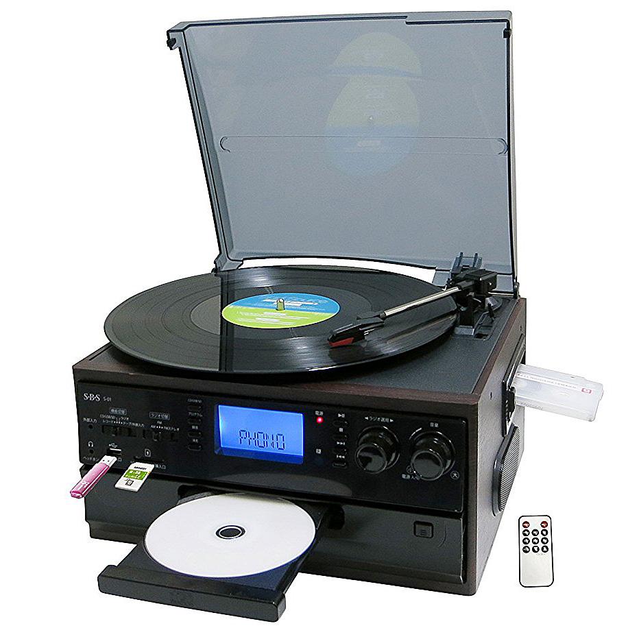 《レガシー資産を活用できる。1台5役》SBS マルチレコードプレーヤーS-01 SD/USBメモリー録音対応