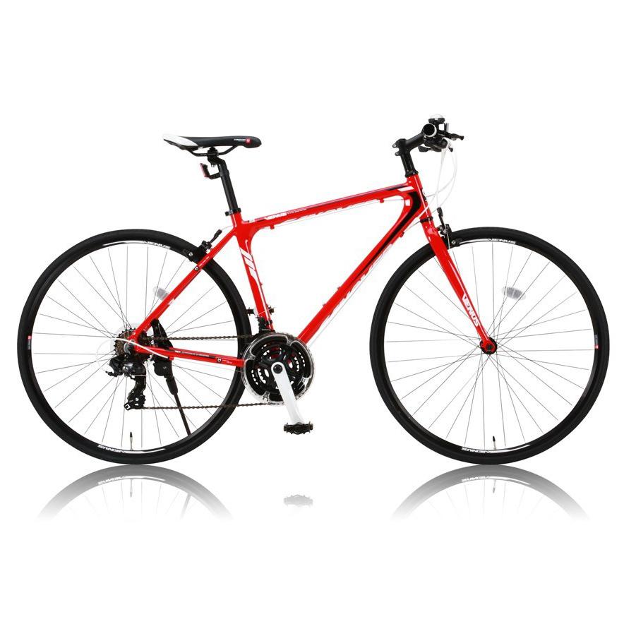 《7スピード14T-28Tのワイドレシオ》CANOVER 700x25C 21段変速クロスバイクCAC-021 VENUSフレームサイズ470mm(31051)レッド