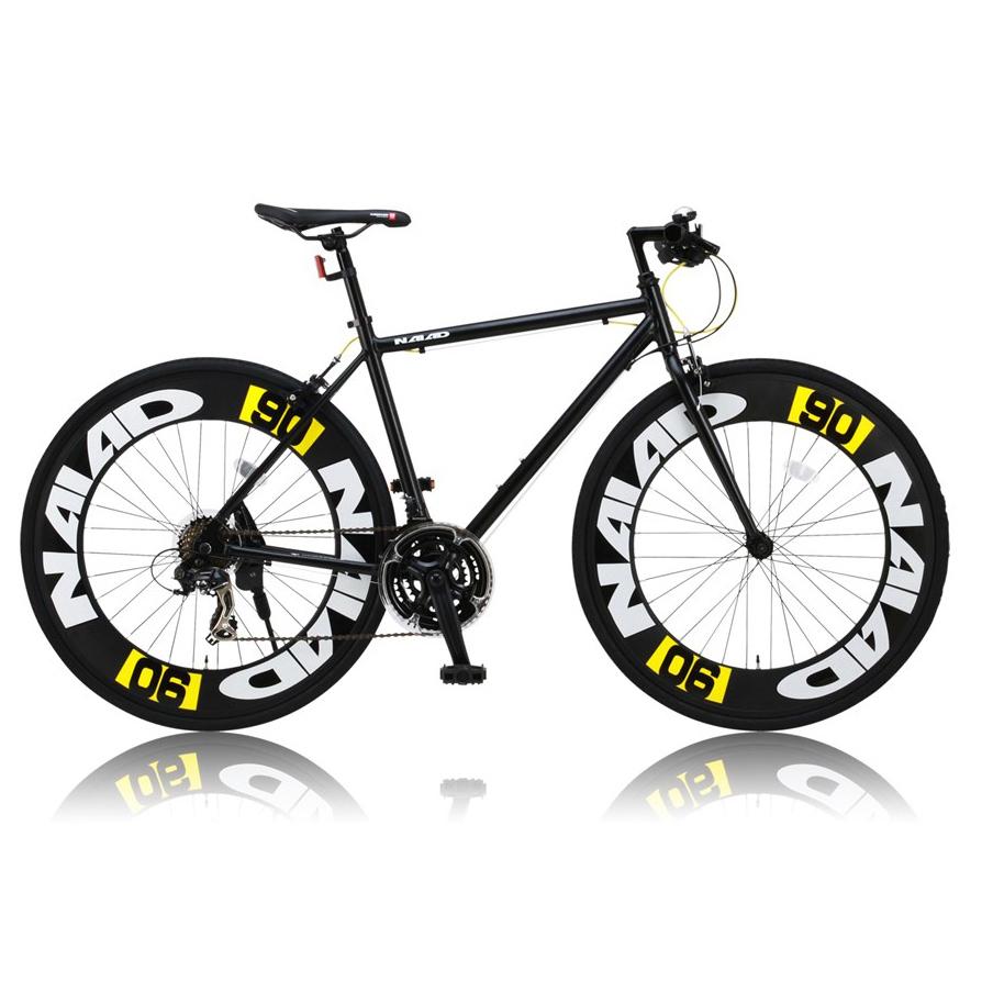 《700Cアルミニウム製の90mmエアロディープリム搭載》CANOVER 700x28C 21段変速クロスバイクCAC-023 NAIADフレームサイズ 490mm(25583)ブラック