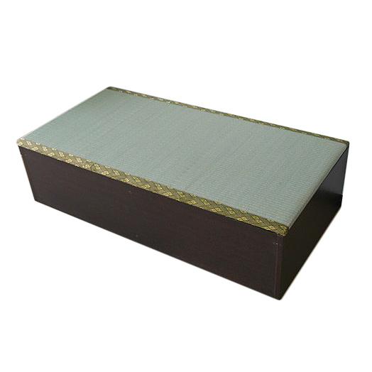 《畳ベンチに、収納スペースとしても》ジェイサプライ 高床式ユニット畳約120×60×31cm(FM002DBR)