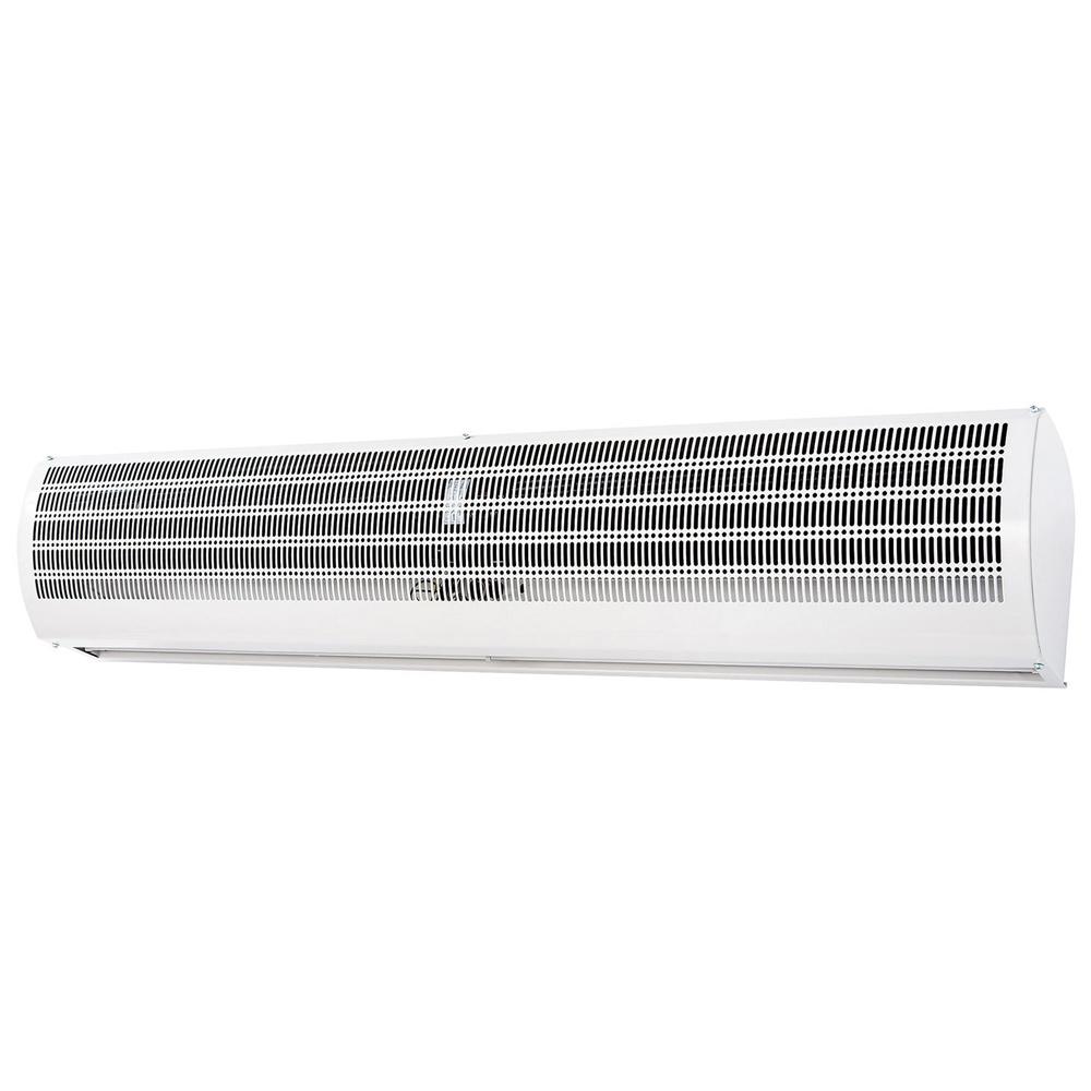 空気のカーテンで冷暖気を逃しません。 《外気の混入をシャットアウト。ホコリや臭いの侵入を抑制》ナカトミ エアーカーテン1200mm幅N1200-AC