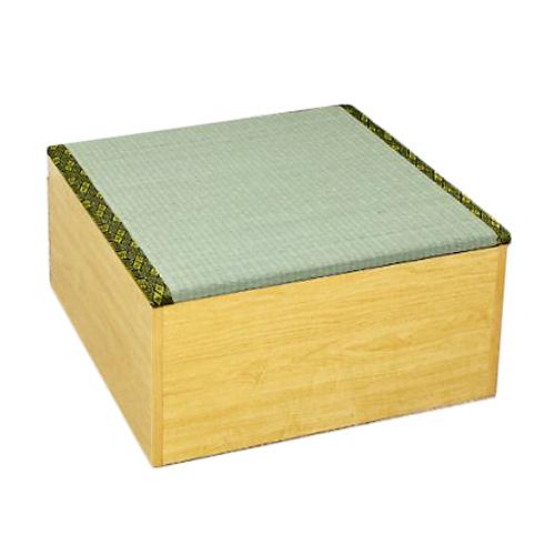 《畳ベンチに、収納スペースとしても》ジェイサプライ 高床式ユニット畳半畳タイプ(FM001NA)ナチュラル
