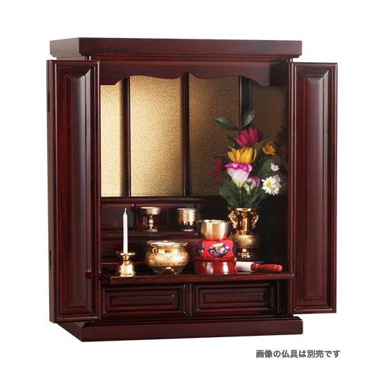《総桐製の高級感ある仏壇》清水産業 天然木桐製上置仏壇CH-360ブラウン
