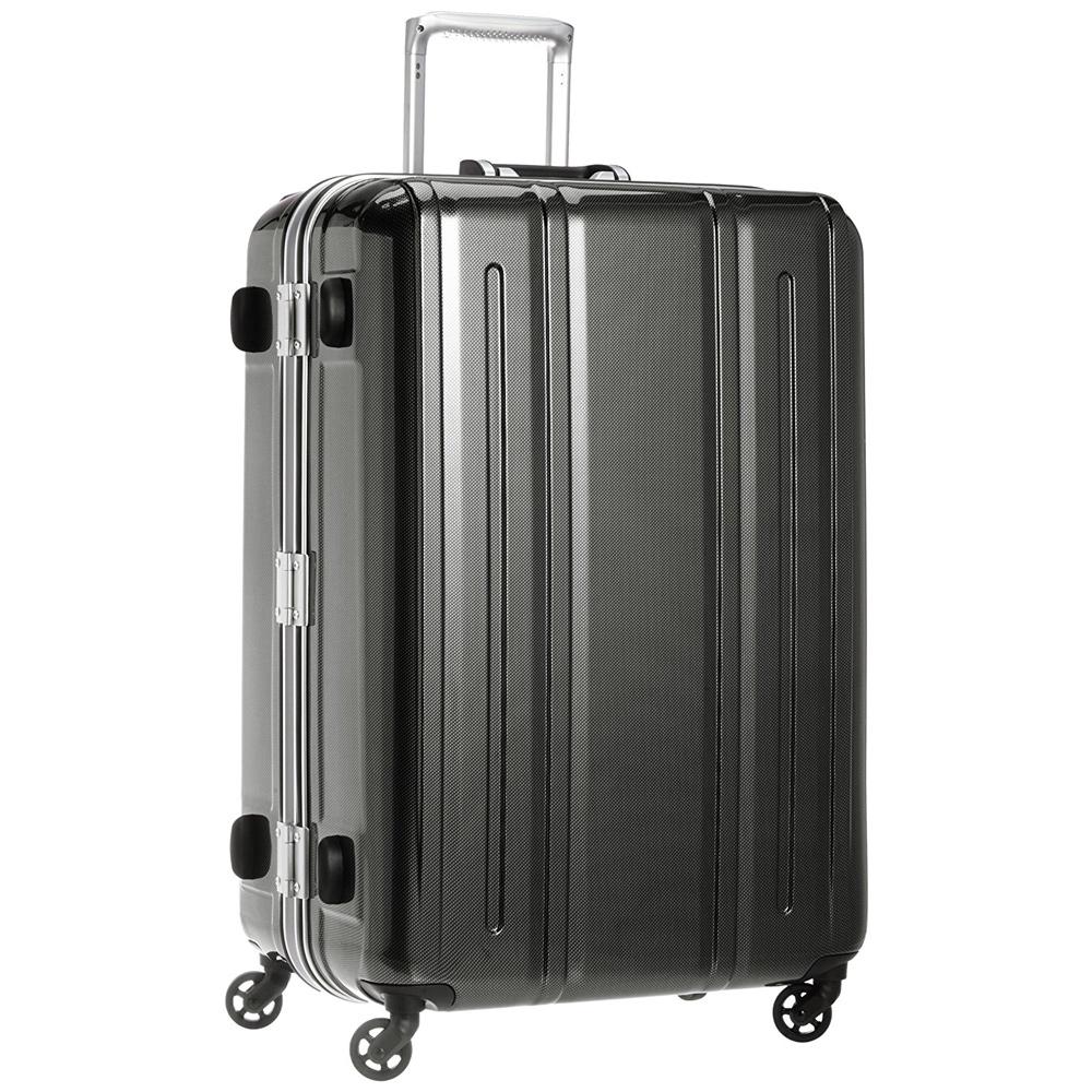《機内預入無料受託サイズ対応・TSAロック搭載・軽量4.35kg》EVERWIN 軽量スーツケースEVERWIN BE LIGHT 94L(31227)ブラックカーボン