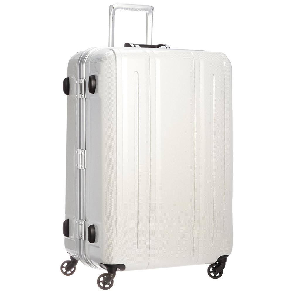 《機内預入無料受託サイズ対応・TSAロック搭載・軽量4.35kg》EVERWIN 軽量スーツケースEVERWIN BE LIGHT 94L(31227)ホワイトカーボン