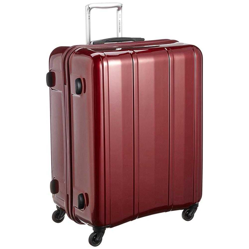 《機内預入無料受託サイズ対応・TSAロック搭載・容量100L》EVERWIN 軽量スーツケースEVERWIN BE MAX 100L(31228)レッド