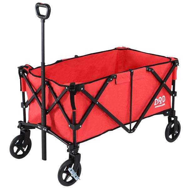 《容量160L、耐荷重100kg、自重9.8kg》DOPPELGANGER フォールディングキャリーワゴンC2-534-RDサーモンピンク/ブラック