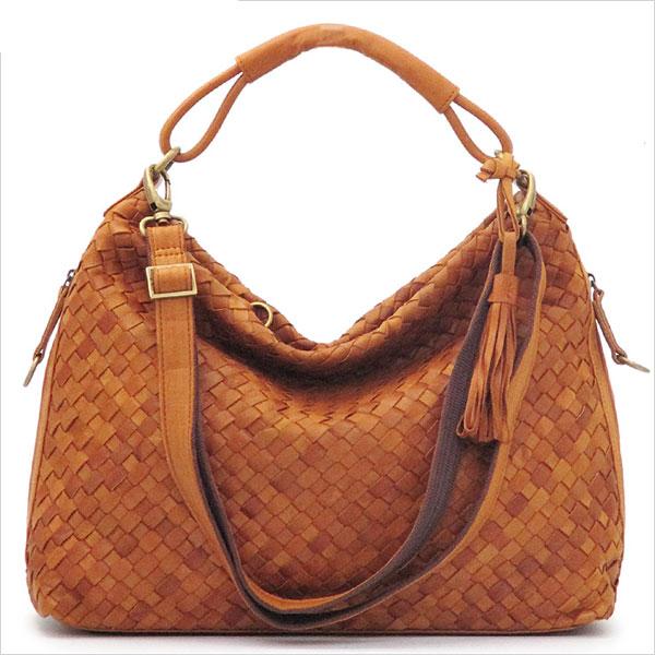 《ショルダー・ハンドバッグの2WAY仕様。A4サイズ対応》LILY メッサーラ ポニーレザーメッシュ2WAYバッグ(L)WE0203-53キャメル