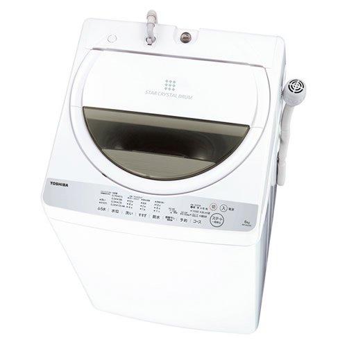 東芝 6.0Kg タテ型全自動洗濯機風乾燥機能付AW-6G6(W)グランホワイト