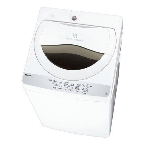 東芝 5.0Kg タテ型全自動洗濯機風乾燥機能付AW-5G6(W)グランホワイト