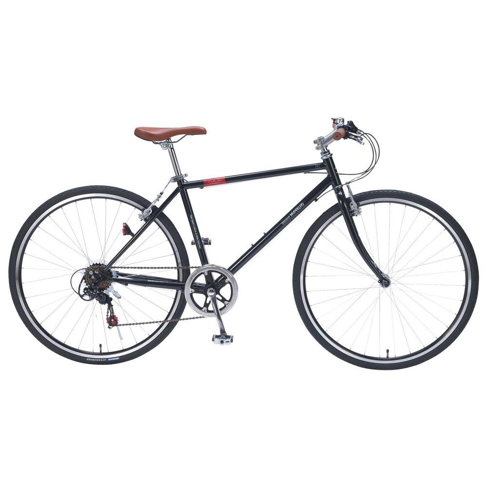 《乗り心地とスピード感を楽しめる!クロスバイク入門用にも最適》My Pallas700C 6段変速クロスバイクM-604(BK) ブラック